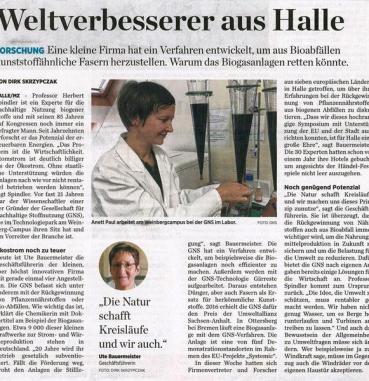 Newspaper article in the Mitteldeutsche Zeitung from June 7, 2019