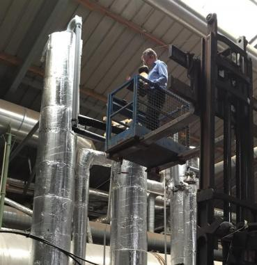 Fiber production from biogas plants applicable on a large scale