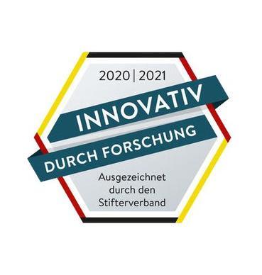 """Gütesiegel """"Innovativ durch Forschung"""""""